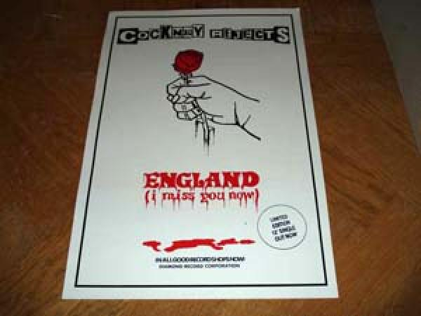 Plakat - Cockney Rejects 'England ...'