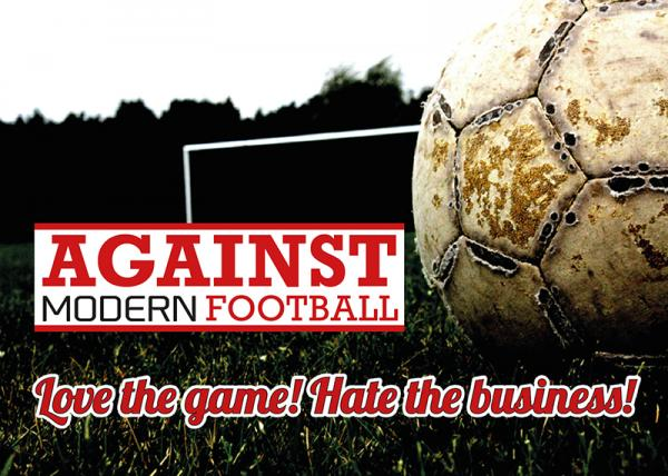 Aufkleber - Against modern Football, Love the game - Hate the business