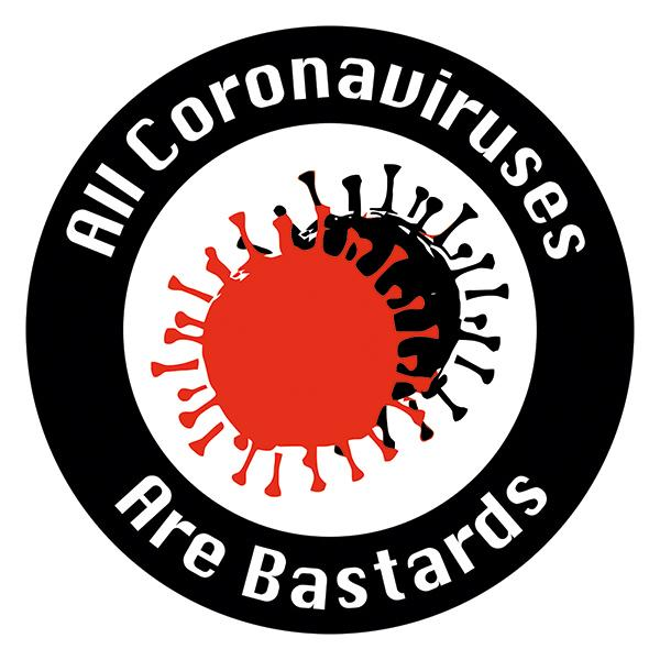 Aufkleber - All Coronaviruses Are Bastards, ACAB