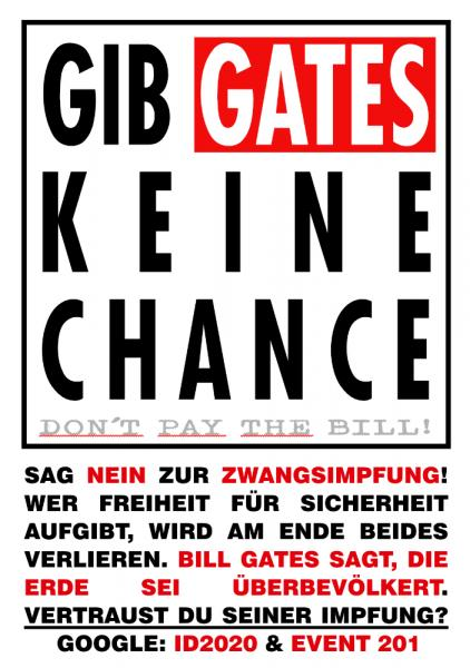 Aufkleber - Gib GATES keine Chance! Dont Pay The Bill
