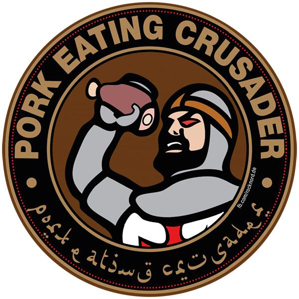 Aufkleber - Pork Eating Crusader