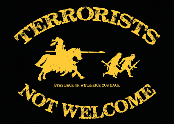 Aufkleber - Terrorists Not Welcome
