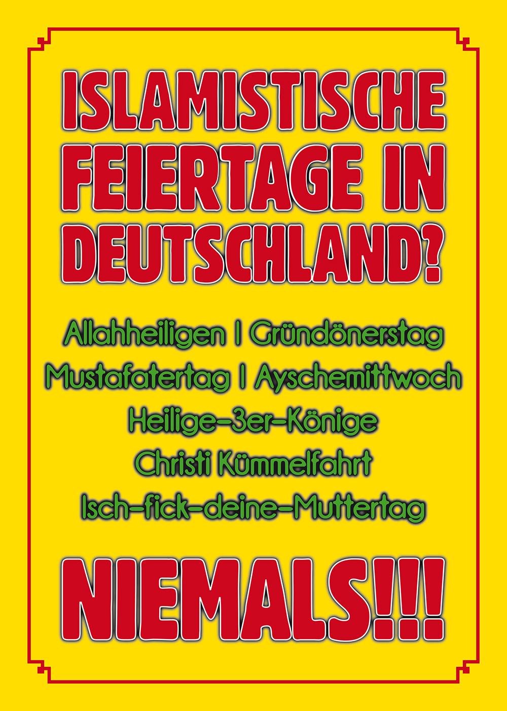 Aufkleber Islamistische Feiertage