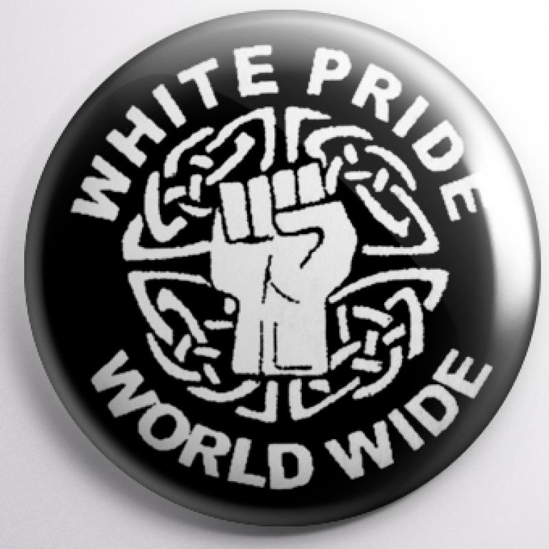 Button - White Pride worldwide (Faust)